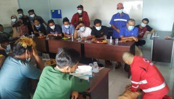 PMI Babel Latih Karyawan Tambak Udang PT SAS Dasar Pertolongan Pertama