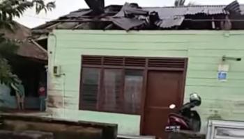 Diterjang Puting Beliung, Puluhan Rumah di Toboali Rusak