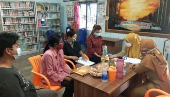 DKPUS Babel Bina Perpustakaan Desa Rebo, Persiapan Akreditasi