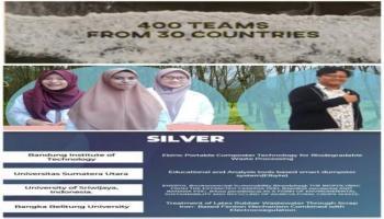 Ubah Limbah Lateks Ramah Lingkungan, Mahasiswa UBB Kantongi Medali Silver