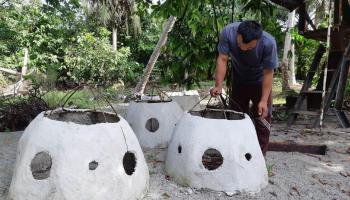 Program PPM, PT Timah  Bersama Nelayan Tanjung Gunung Buat Rumpon Ikan