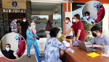UBB Mulai Vaksinasi Tenaga Pendidik dan Kependidikan